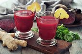 Rote Beete-Smoothie mit Ingwer