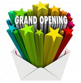 Grand Opening Envelope Store Event Sale