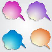 Vector colored speech bubbles set