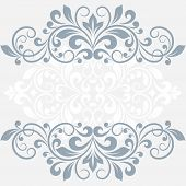 stock photo of symmetry  - Floral greeting card - JPG