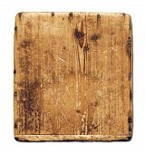 Old Grunge Wood Board Isolated On White