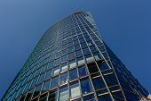 Berlin - August 24: Glass Tower At Potsdamer Platz On August 24, 2013 In Berlin, Germany. The Potsda