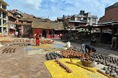 Pottery square in Bhaktapur, Nepal