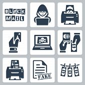 Vector Criminal Activity Icons Set