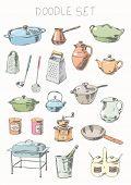 Doodle set - tableware