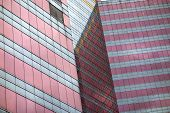Tall building facade in Hong Kong