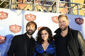 LAS VEGAS - DEC 10:  Dave Haywood, Hillary Scott, Charles Kelley at the 2013 American Country Awards