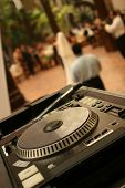 Dj Turntable At A Party