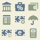 Finance web icons money color set