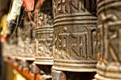 Boudhanath Temple Bells  In The Kathmandu Valley