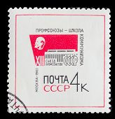 USSR - CIRCA 1963: A post stamp printed in USSR, showing portrai