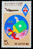 China circa 1976: eine Post-stamp-gedruckte China, Tabelle der World-Cup