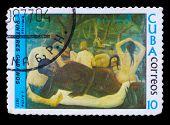 CUBA - CIRCA 1977: A stamp printed in Cuba, shows artist J. Arch