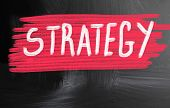 Strategy Handwritten With Chalk On A Blackboard