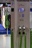 Green Motion Electric Charging Station At The Geneva Motor Show