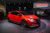 Honda Civic Type R Concept Car At The Geneva Motor Show