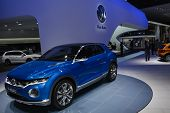 Volkswagen T-roc Concept Car At The Geneva Motor Show