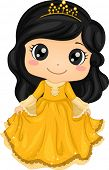 image of dainty  - Illustration of a Cute Little Girl Wearing a Princess Costume - JPG
