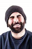 Bearded Man Cheering