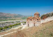Historic Orthodox Holy Trinity Church in the UNESCO city of Berat, Albania