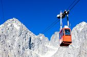 foto of ropeway  - cable car to Lomnicky Peak - JPG