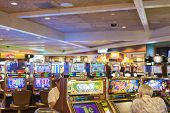 Las Vegas- Usa, September, 30: People Playing In One Of The Casinos In Las Vegas City In  September,