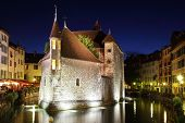 ANNECY, FRANCE - SEPTEMBER 16, 2012: The capital of the Haute-Savoie - Annecy. The ancient fortress-