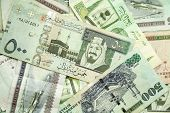 Saudi Arabia Money, Closeup Background Photo Texture