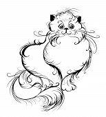Stylized Persian Cat