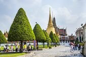 People Visit The Grand Palace In Bangkok