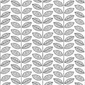 Plant Seamless Pattern In Black And White