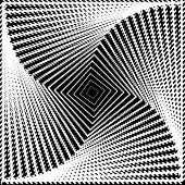 Design Monochrome Twirl Movement Square Geometric Background