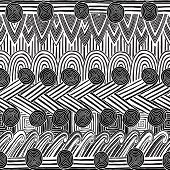 Collage Seamless Pattern In Black And White