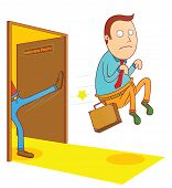 pic of fail job  - Illustration a man failed in job interview - JPG