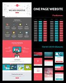 One page website design template t-shirt