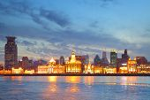 Panoramic view of the Bund, Shanghai, China