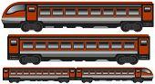 isolated modern train