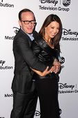 LOS ANGELES - MAY 19:  Clark Gregg, Ming-Na Wen at the Disney Media Networks International Upfronts at Walt Disney Studios on May 19, 2013 in Burbank, CA