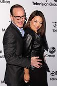 LOS ANGELES - MAY 19:  Clark Gregg, Ming-Na Wen at the Disney Media Networks International Upfronts