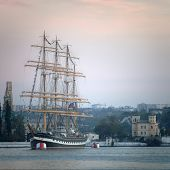 Large Sailing Ship In The Bay