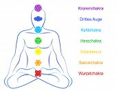stock photo of plexus  - Seven main chakras   - JPG
