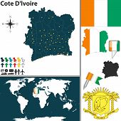 Map Of Cote D'lvoire