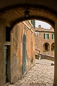 Lucignano d'Asso is a very small medieval village in Tuscany