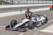 indianapolis, IN - May 17, 2014:  Kurt Busch (26) makes his qualifying run of 229.256 MPH for the Indianapolis 500 at Indianapolis Motor Speedway in indianapolis, IN.