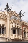 image of ceuta  - House with dragon sculptures in Ceuta - JPG