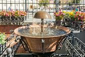 picture of sibiu  - The Old Fountain In The Main Square Of Sibiu Historical Center Was Built In 1583 And Initially Was Used For Washing Laundry And As Drinking Water For Animals - JPG