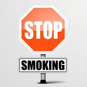 detailed illustration of a red stop Smoking sign, eps10 vector