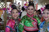 The Girls With Northern Thailand Hilltribe Dress