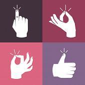 Vector Set Of Hands And Gestures