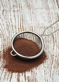 Sieve With Cocoa Powder
